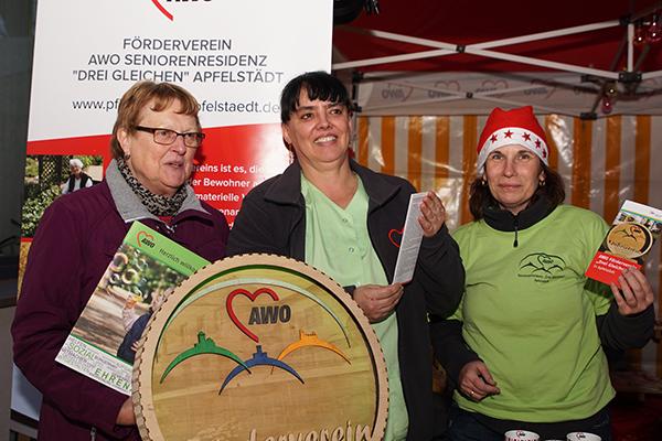 Drei Mitglieder des Fördervereins der Seniorenresidenz Apfelstädt