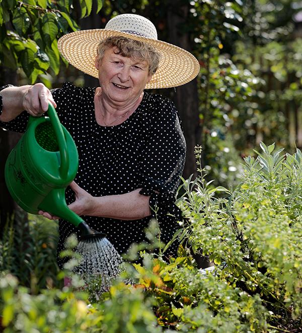 Im Gartend er Seniorenresidenz